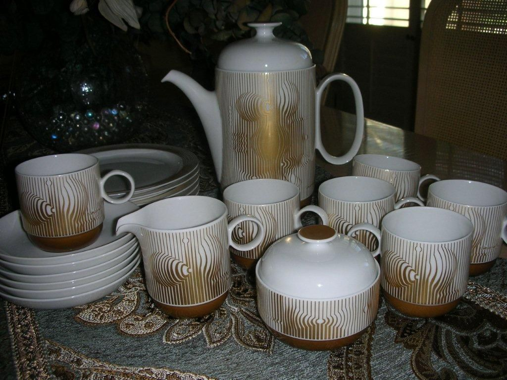 Victor Vasarely Rosenthal Luncheon Set With Original