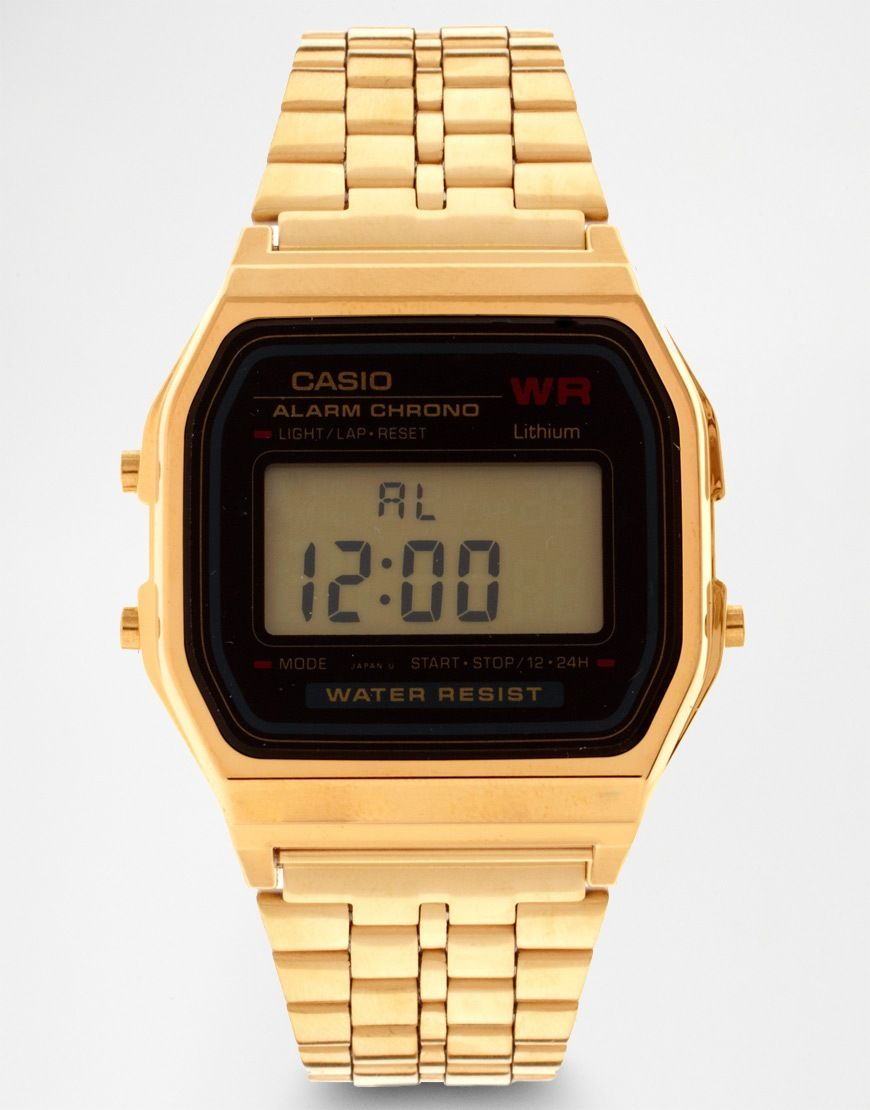 casio a159wgea1ef gold digital watch mens gold