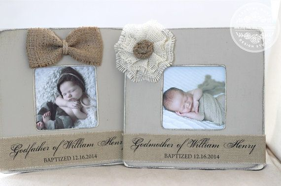 Godmother Godfather Gift Custom Personalized Picture Frame (set of 2 ...