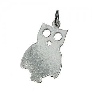 Sterling silver Owl pendant by Moonstoneamber on Etsy, $9.99