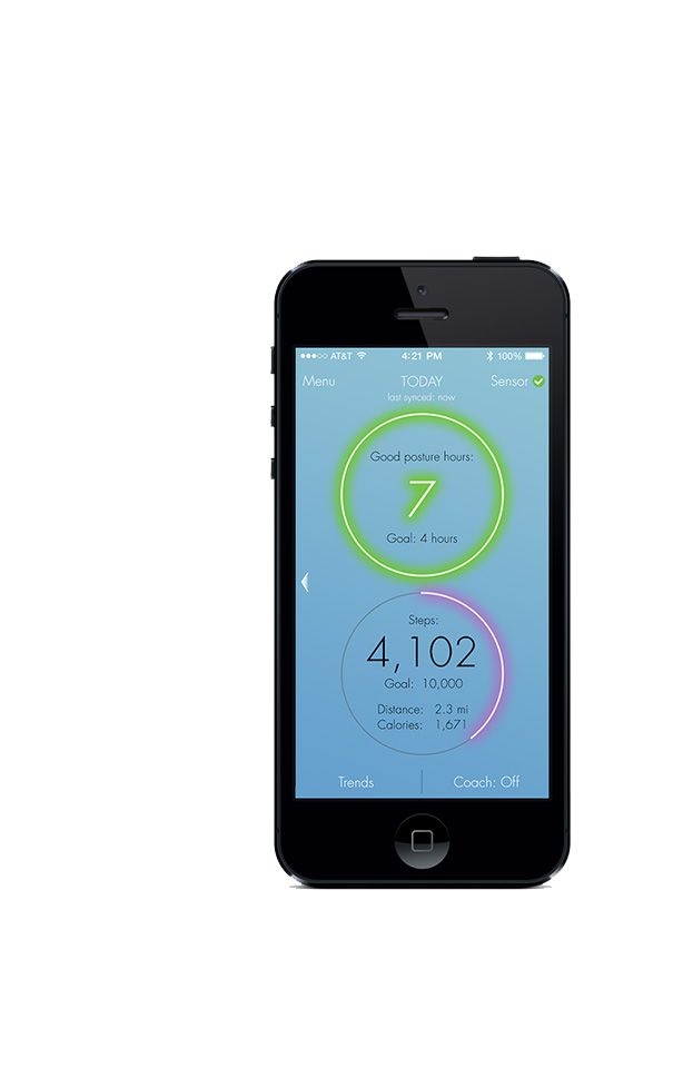 Lumo Lift iPhone App posture tracker and reeducation device