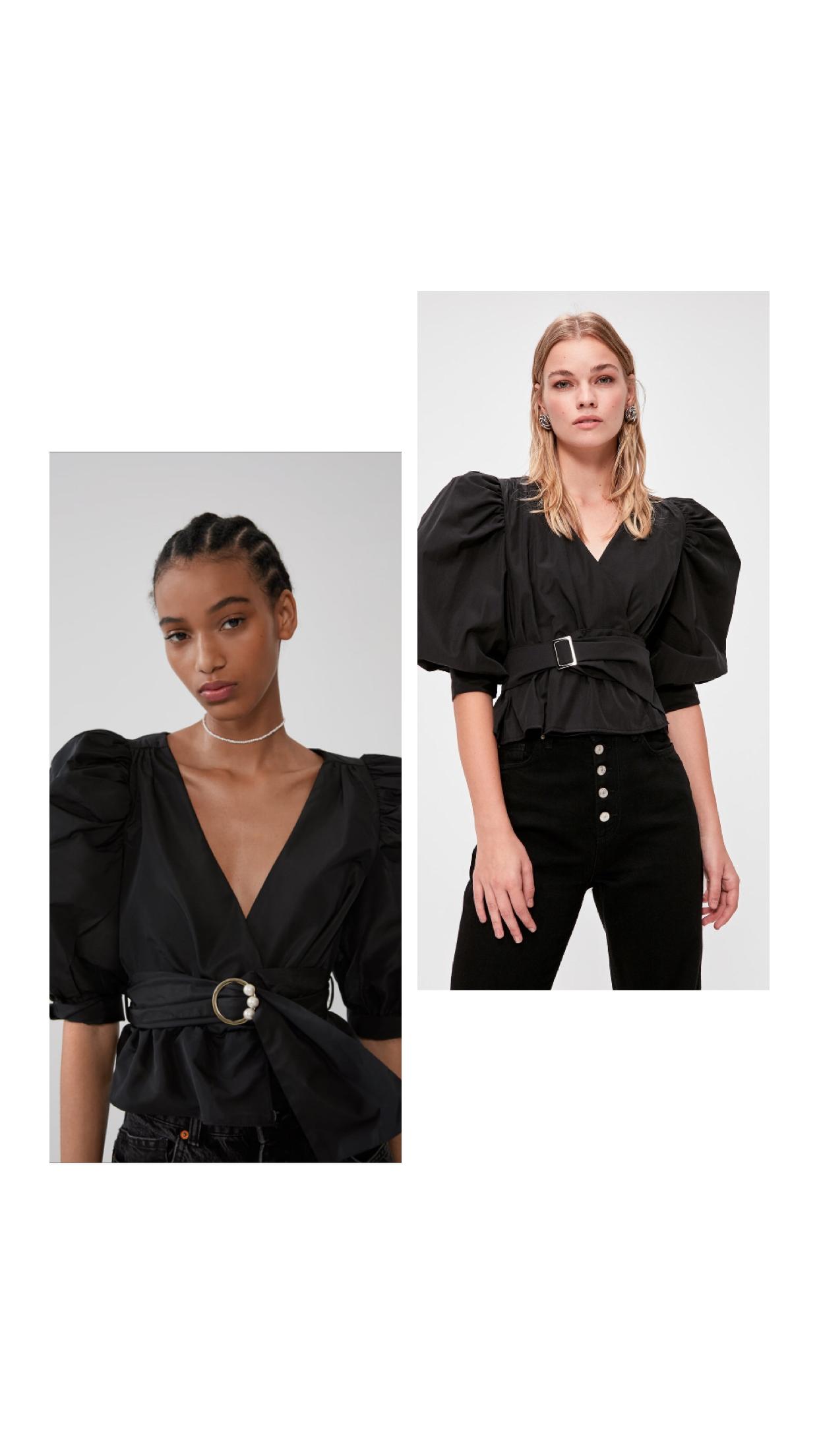 Zara Muadili Bluz Zara Trendler Bluz