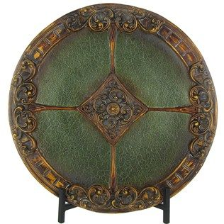 Green & Gold Charger with Black Metal Stand | Shop Hobby Lobby