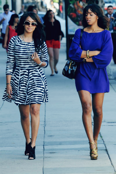 Kelly Rowland And Lala Anthony Black And White Dress My Style