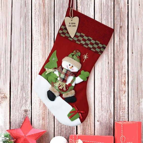 Personalised Santa Christmas Stocking   Christmas ...
