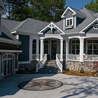 Gray Siding White Trim Stone Accents I Think This Is The Color Scheme We Re Going With
