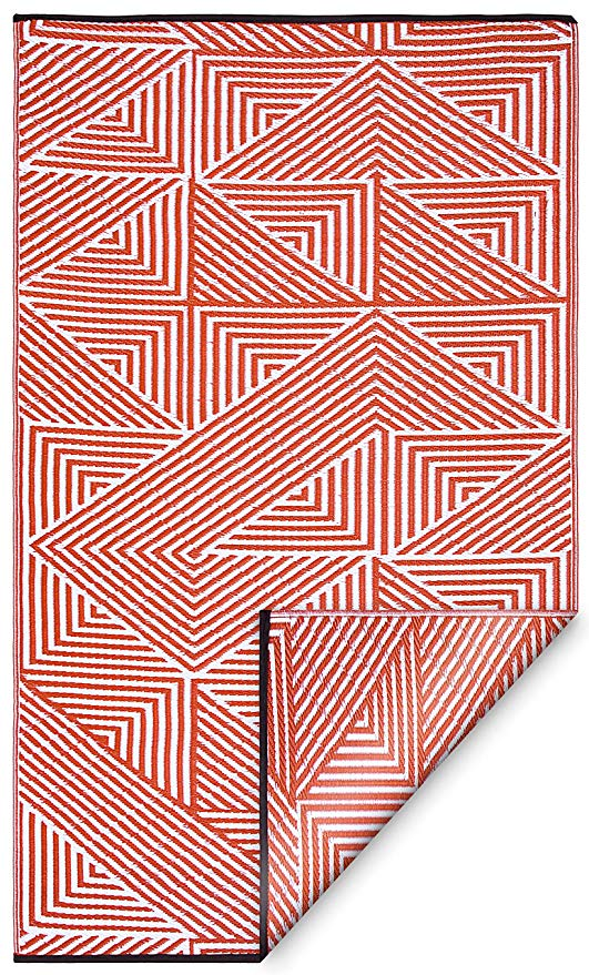 Amazon Com Fab Habitat Tokyo Burnt Orange Reversible Rugs Indoor Or Outdoor Use Stain Easy To Clean Weather In 2020 Fab Habitat Outdoor Rugs Indoor Outdoor Rugs