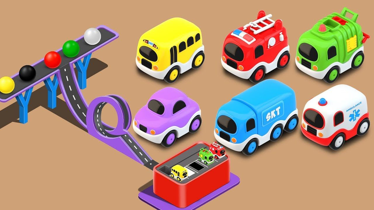 Toys cars pics  Learn Colors with Street Vehicles toys and Color Balls  Little