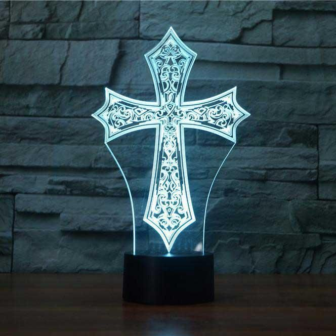 Cross 3d Illusion Lamp 3d Illusion Lamp 3d Illusions Art Lamp