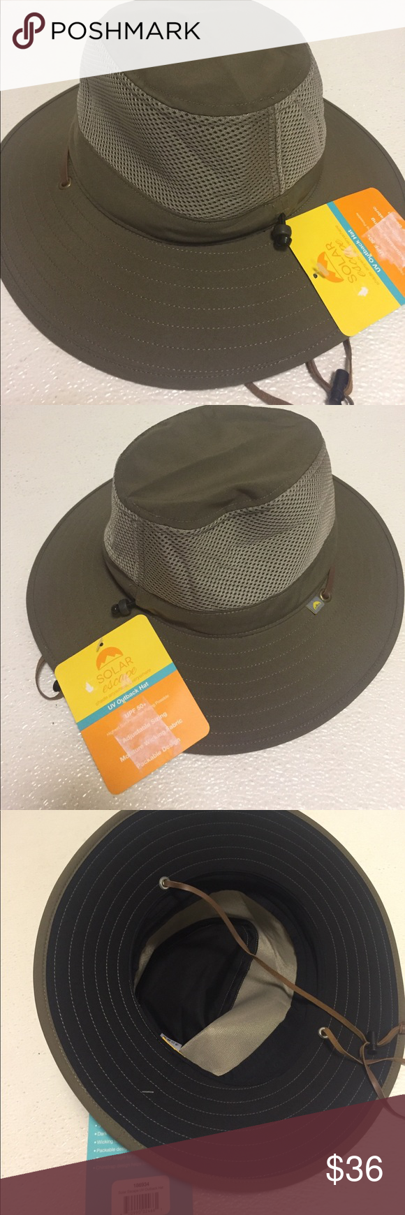 Men s New Solar Escape Outback Hat Olive one size Solar Escape Outback  Men s UV Protection Hat 0399c3961f30
