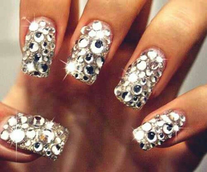 Bedazzled Nails Nails Pinterest Sexy Nails Fabulous Nails And