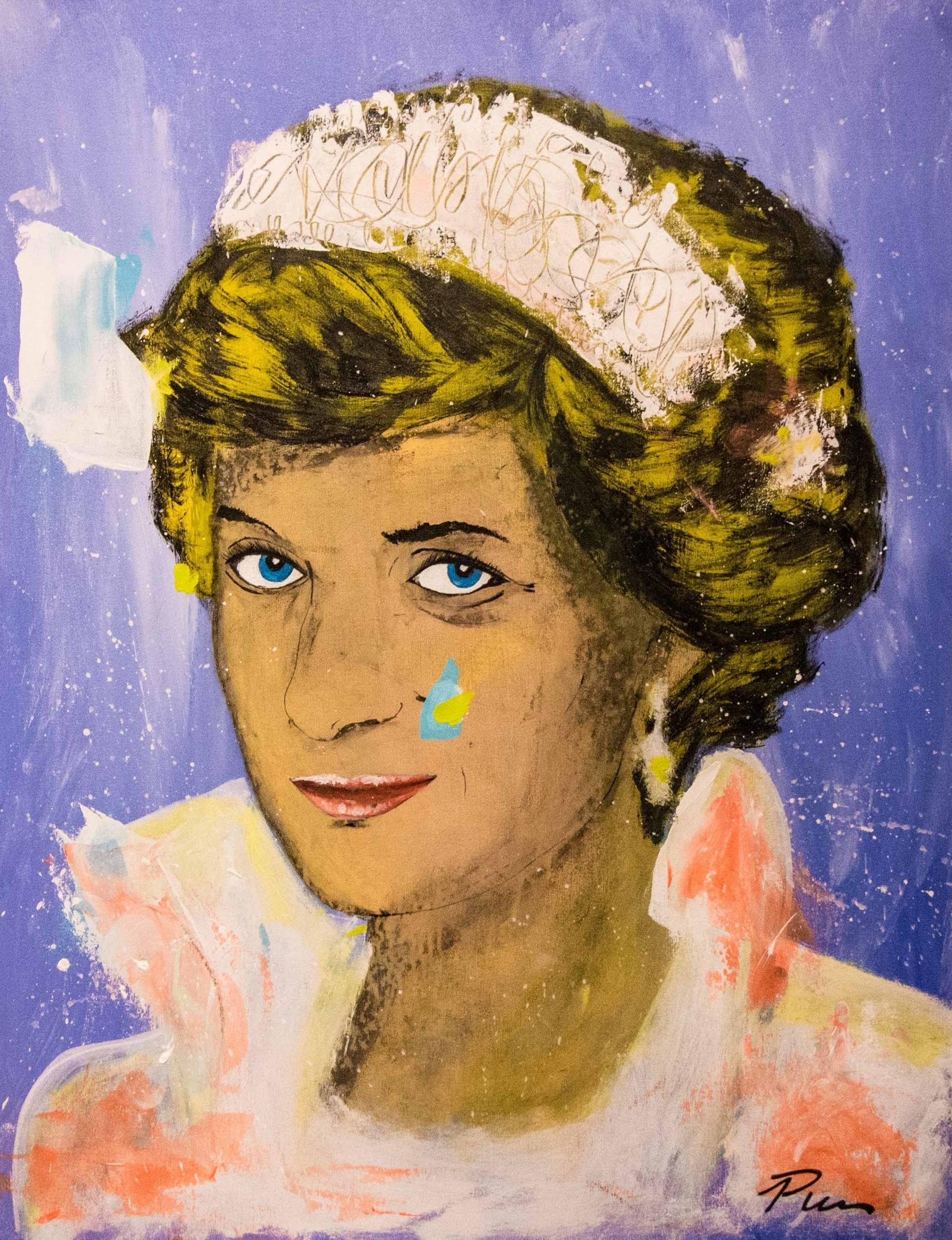 Princess Diana Pop Art Portrait 90x70cm Ready To Hang Painting Pop Art Pop Art Portraits Art