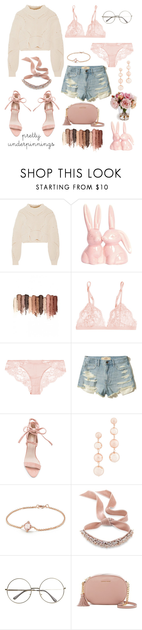 """Untitled #97"" by jresclovon ❤ liked on Polyvore featuring Isabel Marant, tarte, La Perla, Hollister Co., Rebecca Minkoff, David Yurman, Fallon and MICHAEL Michael Kors"