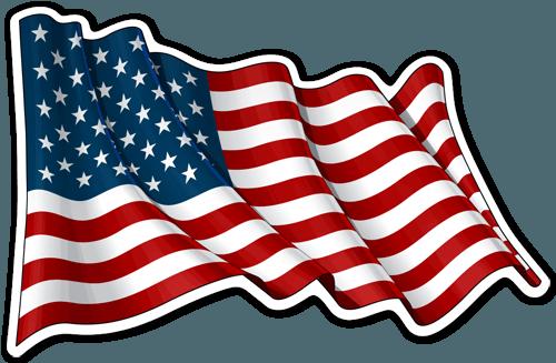 Pegatinas Bandera De Usa Ondeando Bandera Pegatina Teleadhesivo Bandera De Usa Arte De La Bandera Americana Bandera De Estados Unidos
