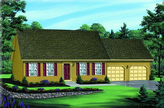 Cape Cod Home Plan: HATTERAS   |   1,535 Square Feet of Living Area  |  3 Bedroom  |  2.5 Bathrooms