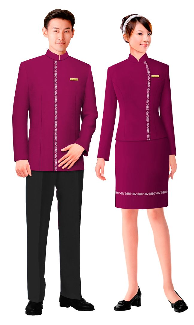 Graceful style hotel uniform hu 04 uniformes hoteles for Spa uniform uae