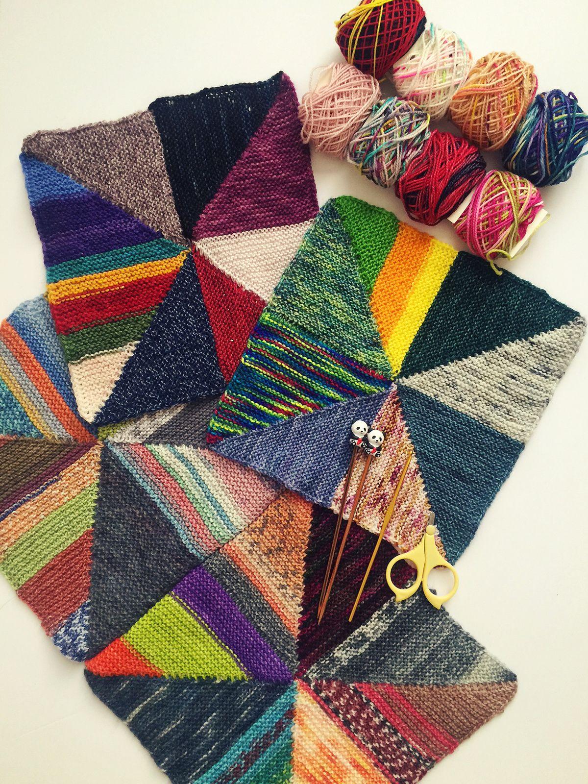 Pinwheel Scrap Blanket Pattern By Knitting Expat Designs