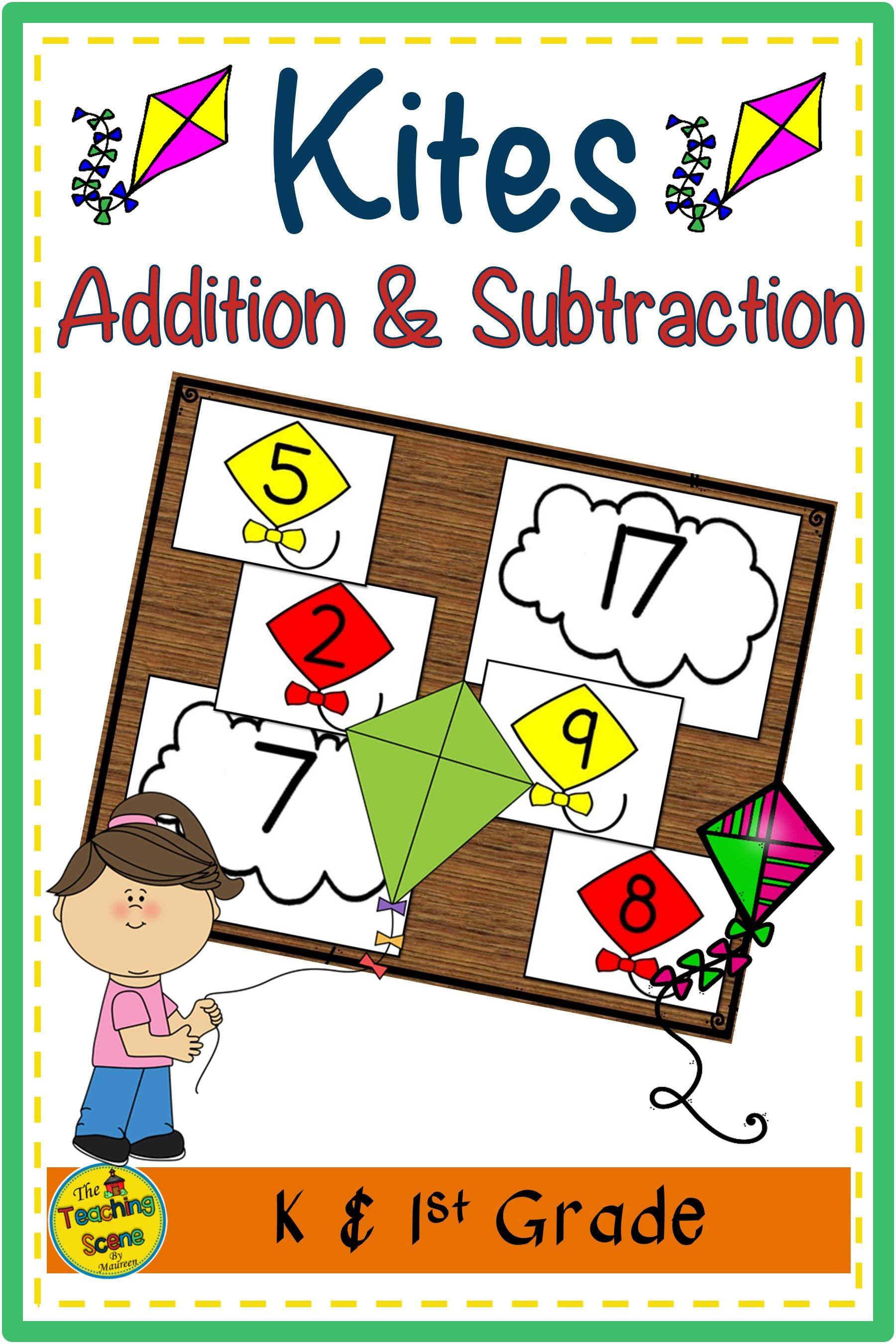 Kites Build 2 Addend 0 20 Addition Amp Subtraction Number