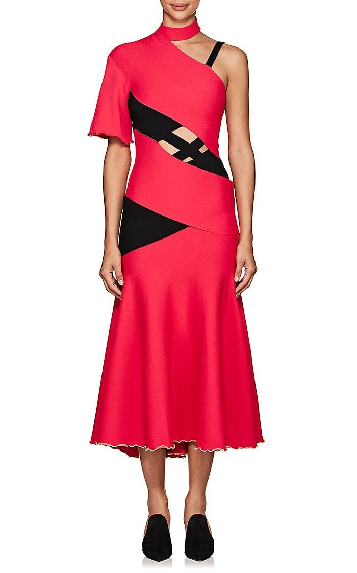 Genuine Online Womens Crisscross-Strap Midi-Dress Proenza Schouler Outlet 100% Original Cheap Discount Sale cbbWPXnDPe