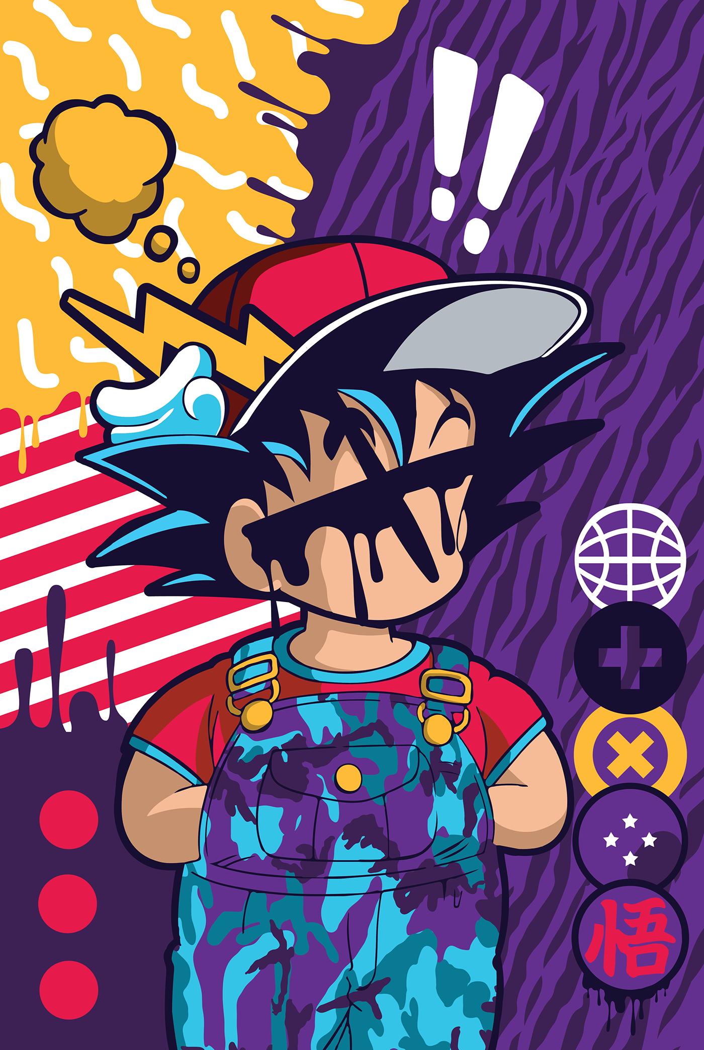 6ab9dbfaf3b5 DBZ PopArt - Illustration   Character Design on Behance