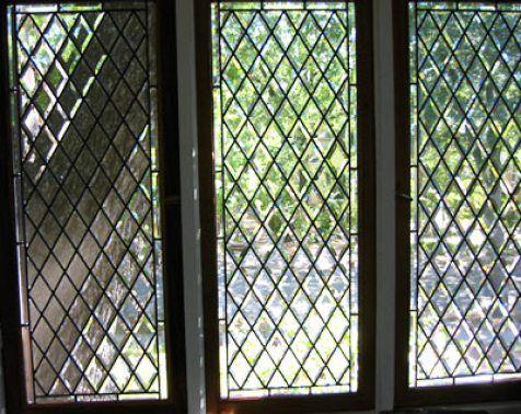 Tudor Revival Home Architectural Style Leaded Glass Leaded Glass Windows Custom Glass