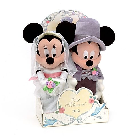 Mickey and Minnie Mouse 39cm Wedding Soft Toys....someone get ...