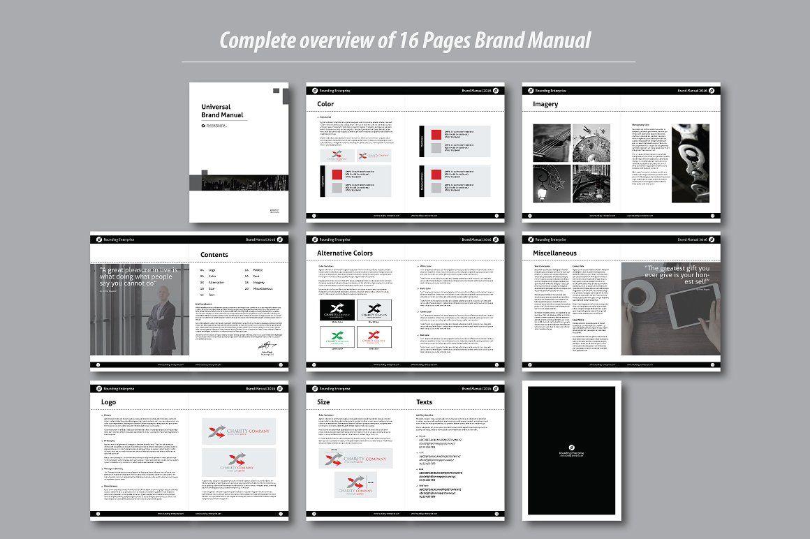 Universal Brand Manual Brand manual, Brochure design