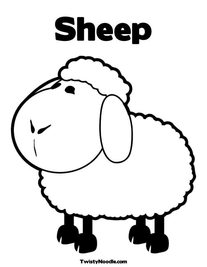 sheep colouring pages - Google keresés | farm | Pinterest