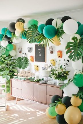 Jungle themed first birthday party ideas | Wedding & Party Ideas