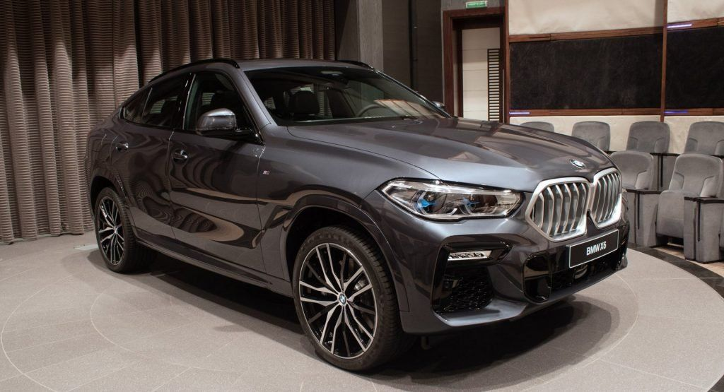 2020 Bmw X6 Showcased In Arctic Grey With Black Merino Leather Inside Carscoops In 2020 Bmw X6 Bmw X6 Black Bmw