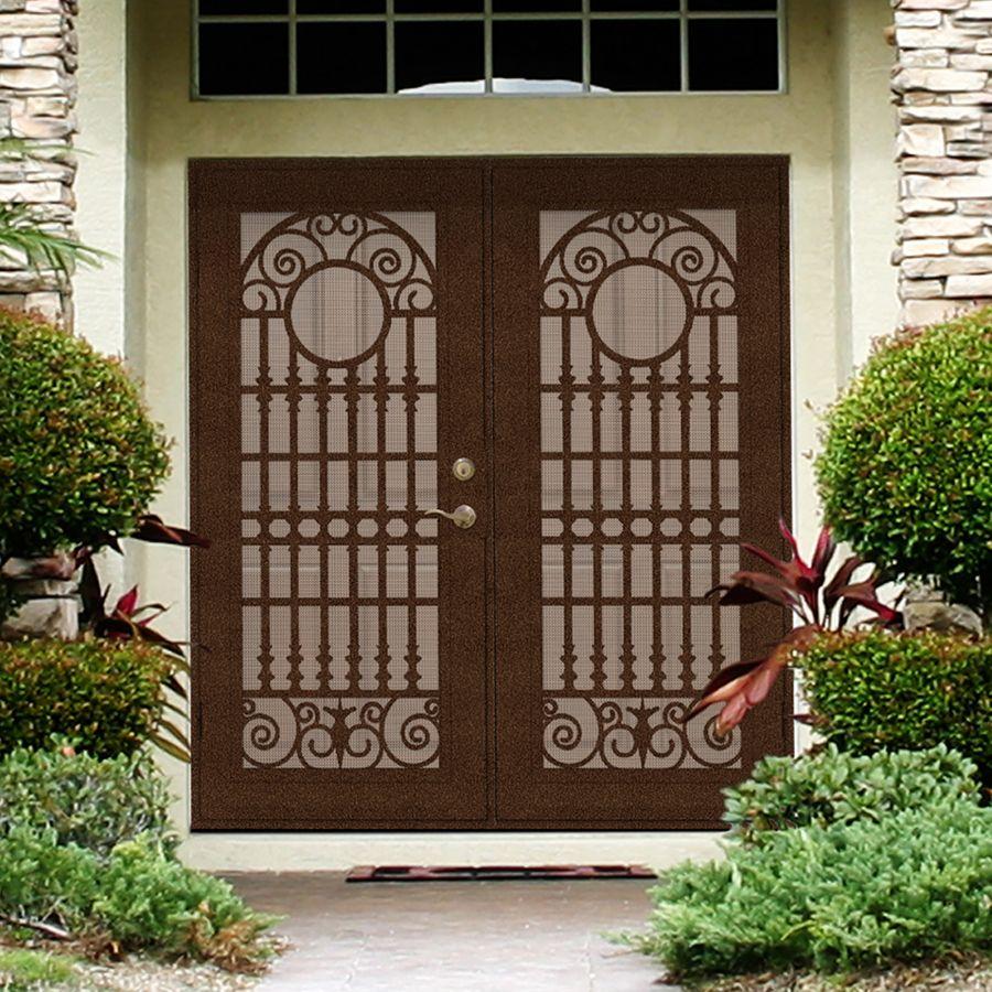 perforated metal screen door. Premium Aluminum Copperclad Spaniard With Desert Sand Perforated Metal Screen Door