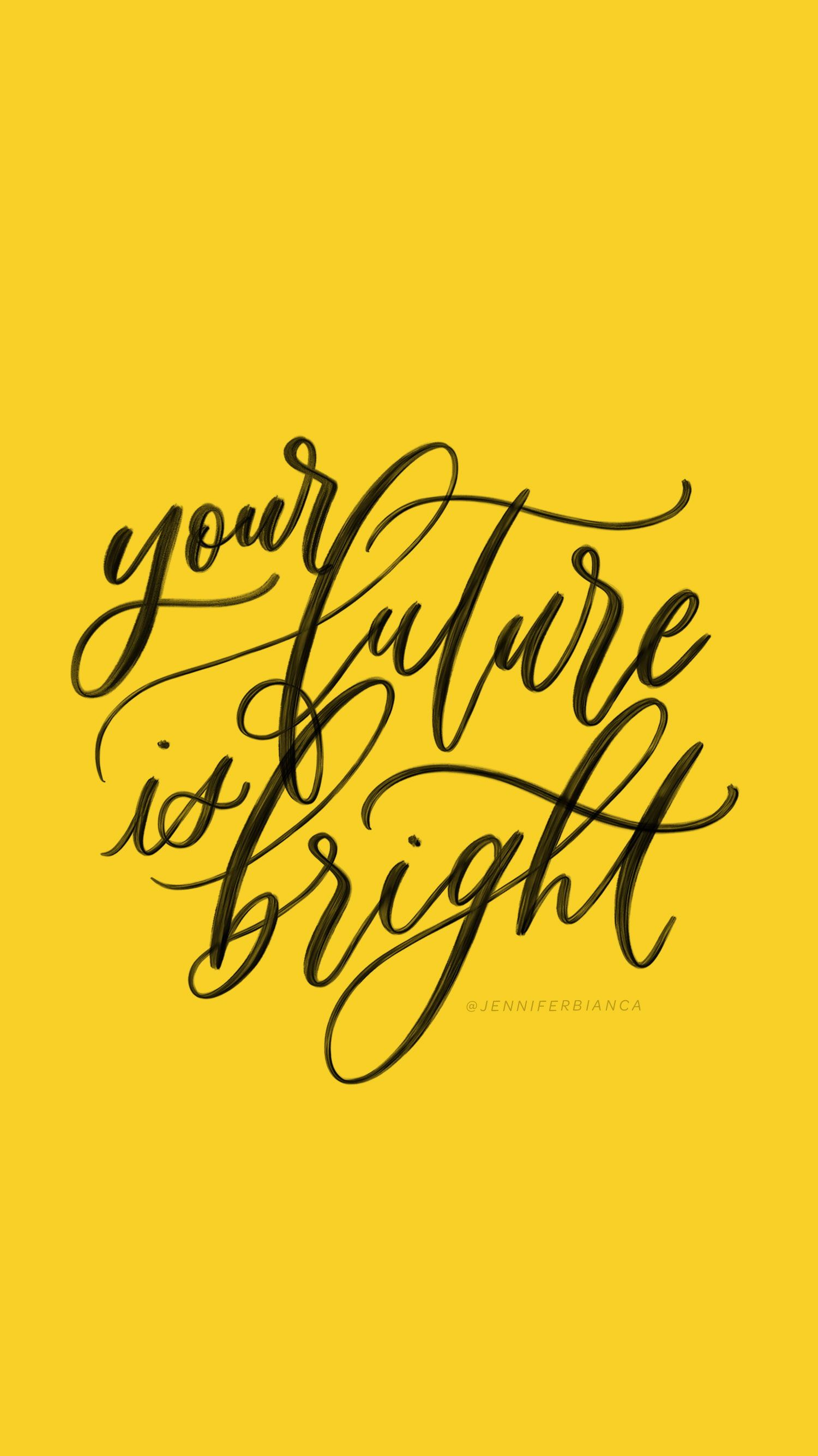 your future is bright / greeting card /