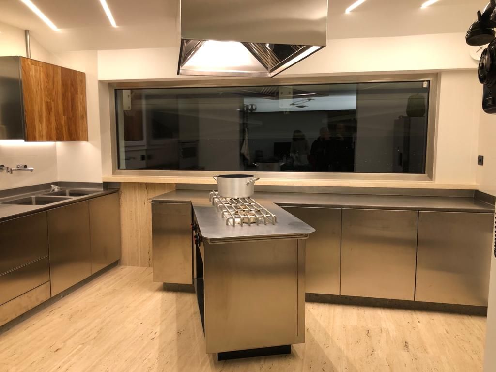 Cucina Moderna Acciaio E Legno Cucine Cucina Moderna Misure Cucina