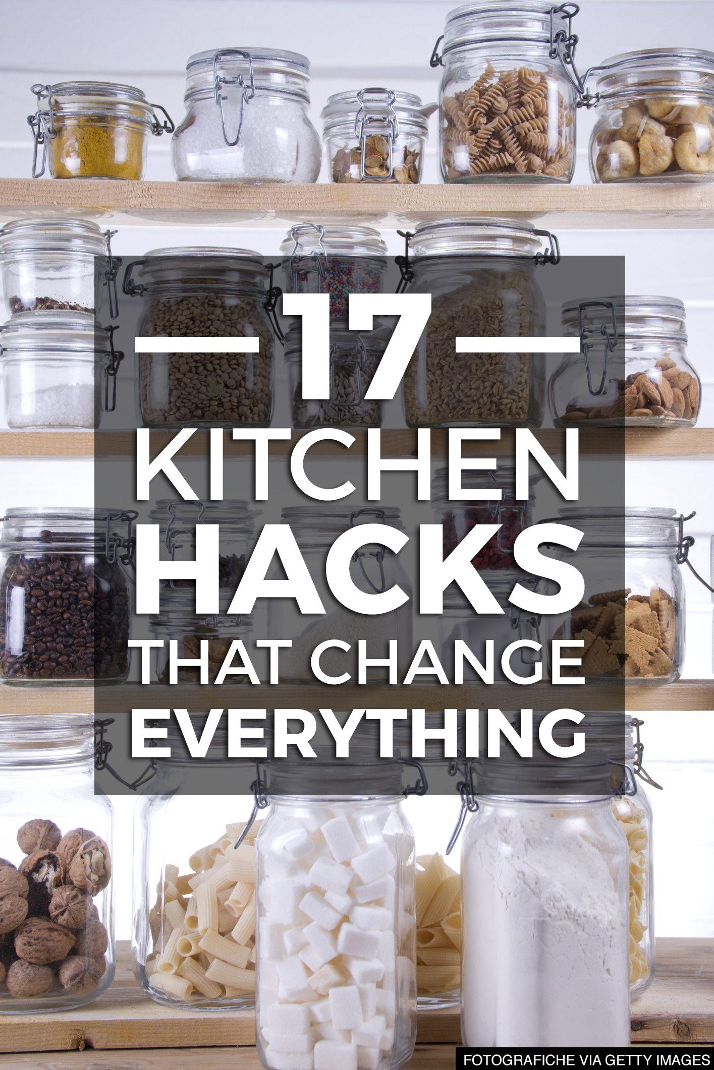 17 Kitchen Hacks That Change EVERYTHING | Pinterest | Küchen-Hacks ...