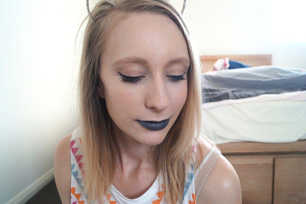 black lipstick, makeup, lipstick, makeup blog, beauty blog, beauty blogger, kat von d studded kiss,