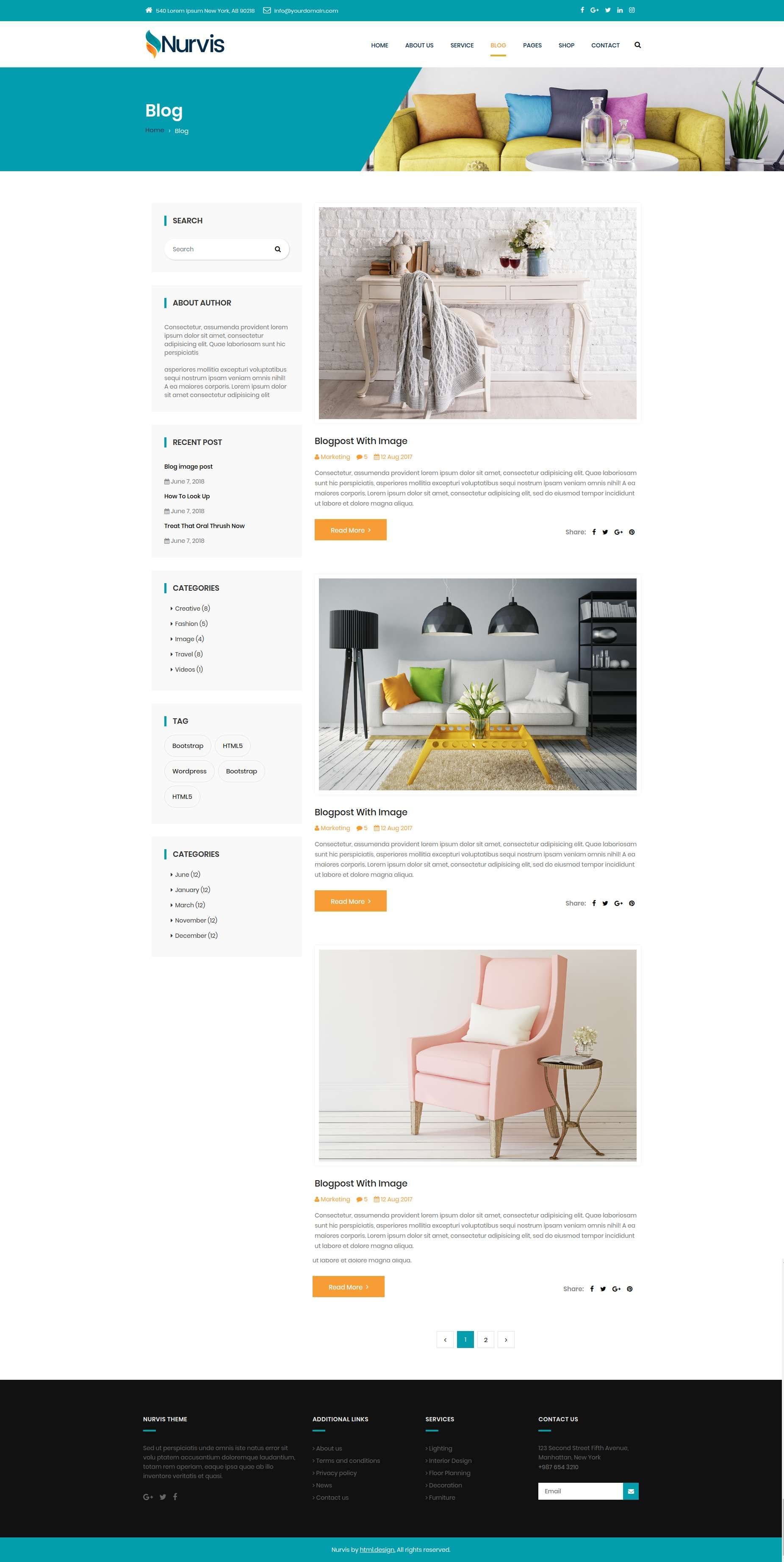 Nurvis - Furnitue Homestyle Bootstrap 4 Responsive HTML5