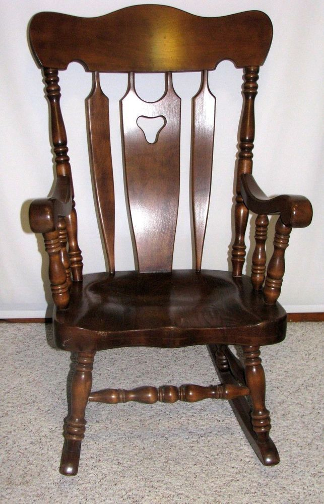 True Vintage Colonial S. Bent & Bros. Maple Rocking Chair Gardner ...