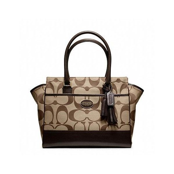 Coach Legacy Signature Medium Candace Carryall ($348) ❤ liked on Polyvore