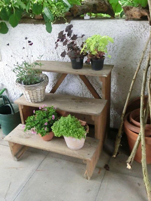 Vintage  - terrasse blumen gestalten