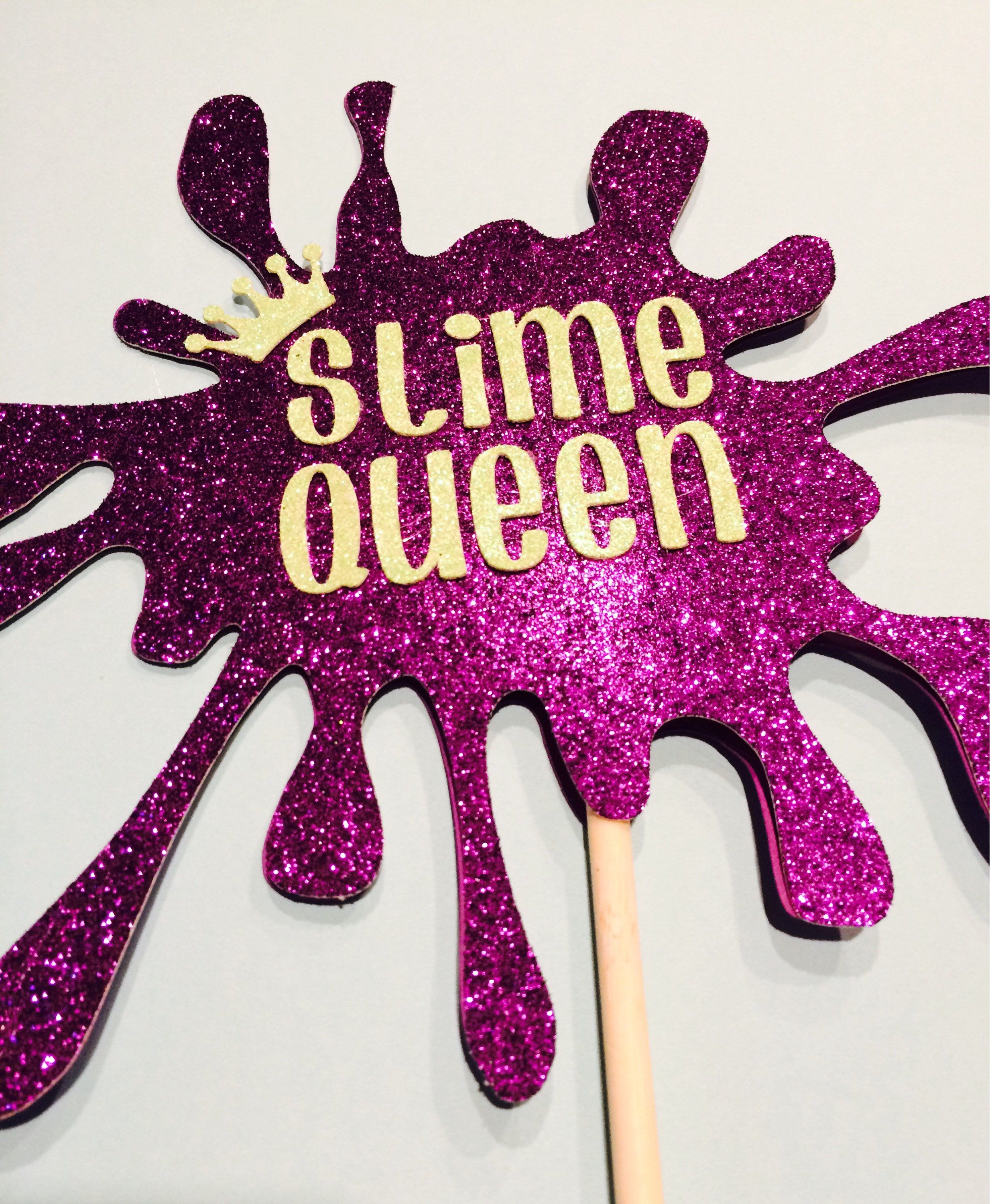 Slime Cake Topper Custom Colors Amp Design Available