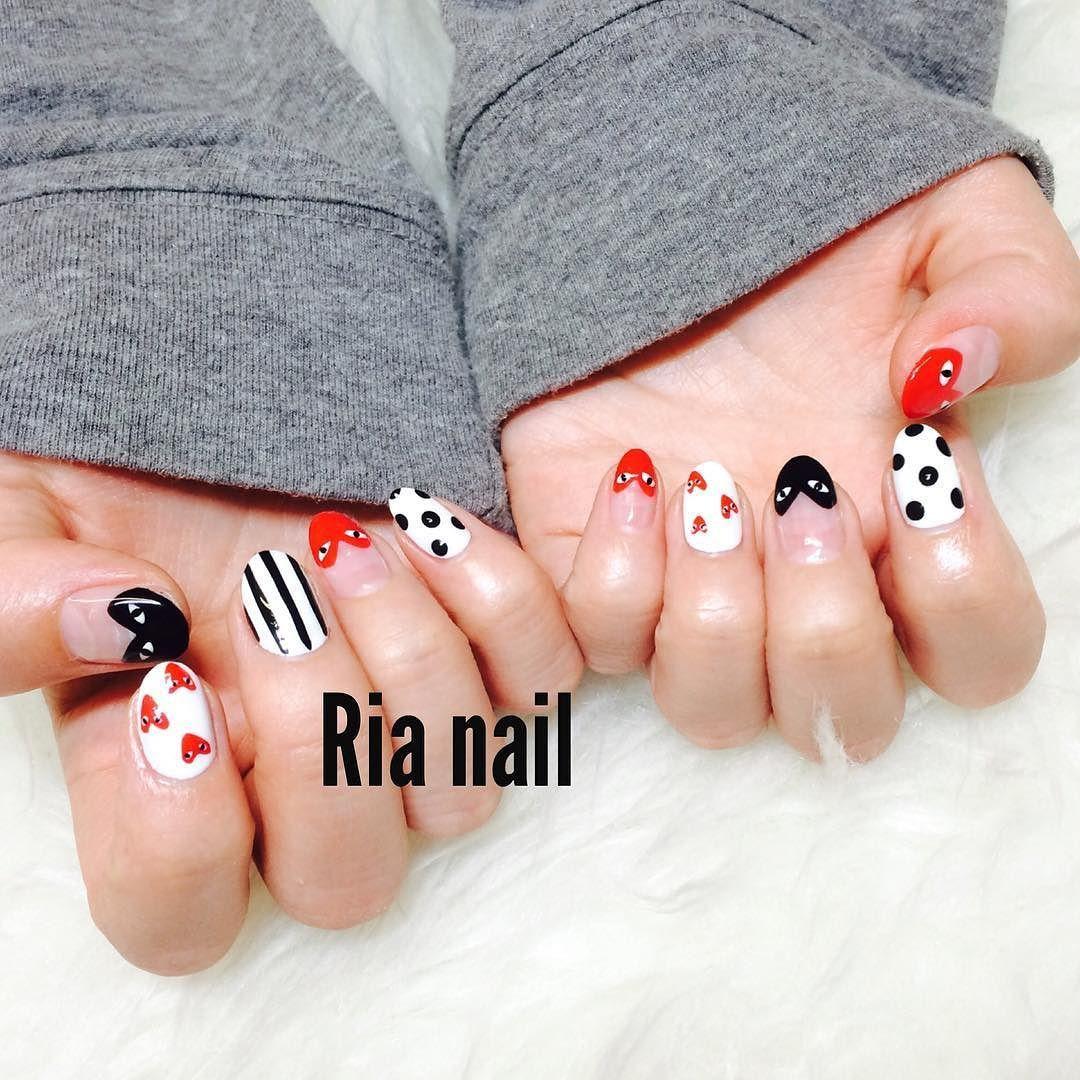 #꼼데가르송  #꼼데가르송네일 . . #rellia_nail #gelnails #gelnail #nail #nails #nailsalon #nailart #koreanailart #cute #네일아트 #네일 #데일리룩 #젤네일 #네일디자인 #일상 #nailartaddicts #summernail #summer #popartnail  #superhero #classynail #봄네일 #ネイルアート #ジェルネイル #ネイル #冬ネイルアート #冬天的美甲 #美甲 by rellia_jung