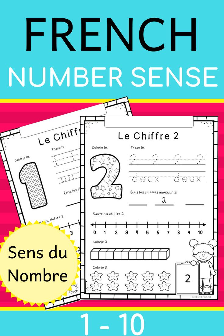 French Number Sense Worksheets 1 To 10 Sens Du Nombre 1 A 10 Fiches De Travail Color The Number Trace The Teaching Math Number Sense Worksheets Teacher Help [ 1102 x 735 Pixel ]