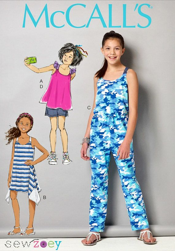 9cdcb93c72 Tween Girls  Jumpsuit Pattern Girls  Easy Top and