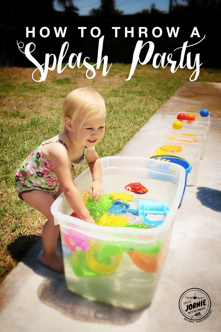 How to throw a SPLASH PARTY! | Splash party, Backyard ...