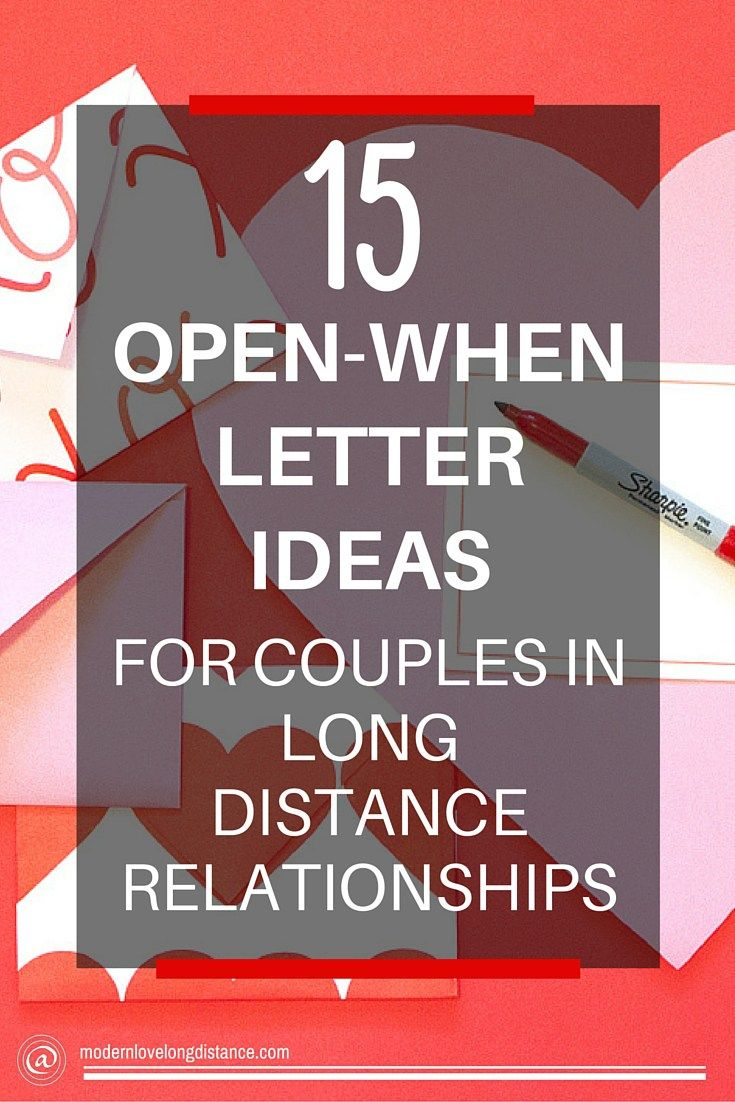 DIY Long Distance Gifts: Open When Letters