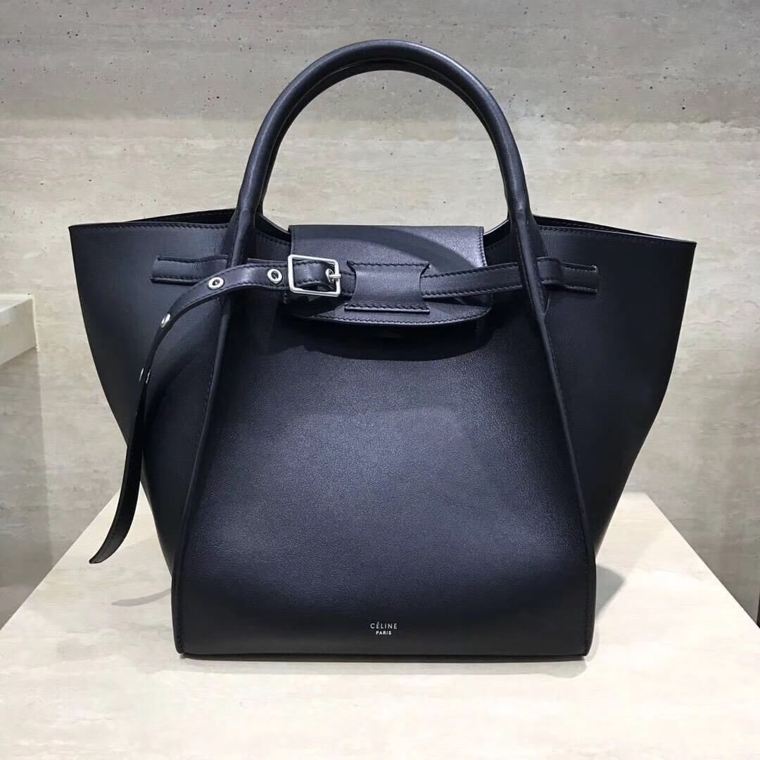Celine Small Big Bag With Long Strap in Smooth Calfskin Black 2018 ... e31d4d7eaed4e