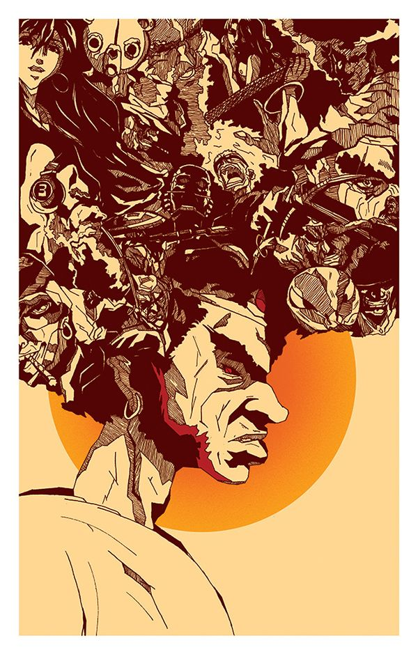 Afro Samurai Resurrection 2009 Is A Japanese American Anime Television Film Sequel To The 2007 Miniseries Afro Samu Samurai Artwork Afro Samurai Samurai Art
