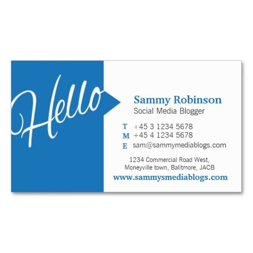 Blue white quote social media business card biz card ideas shop customizable social media business cards and choose your favorite template from thousands of available designs fbccfo Image collections