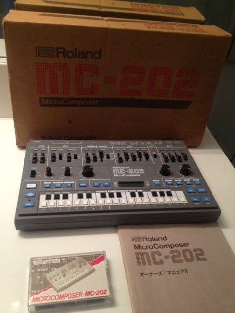 MATRIXSYNTH: Roland MC-202 MicroComposer SN 340300 with Origina...
