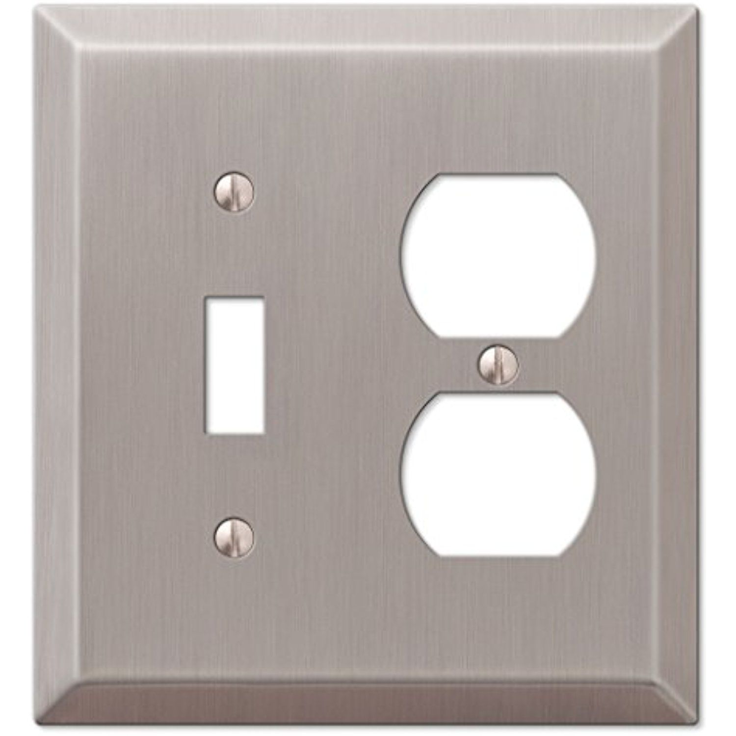 Amerelle 163tdbn Century Brushed Nickel Steel 1 Toggle 1 Duplex Wallplate Check Out This Great Product Thi Plates On Wall Electrical Box Cover Nickel Steel